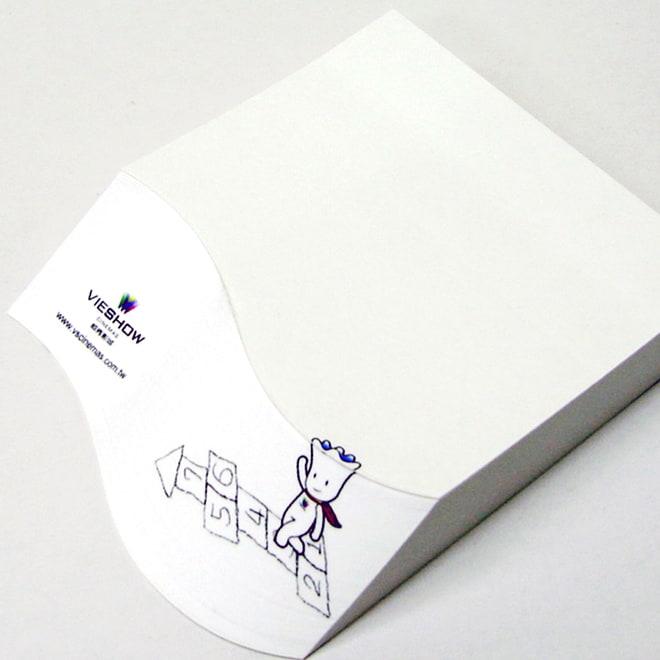 立體斜切式便條紙